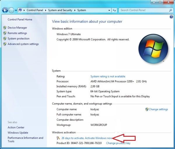 windows 7 home premium product key