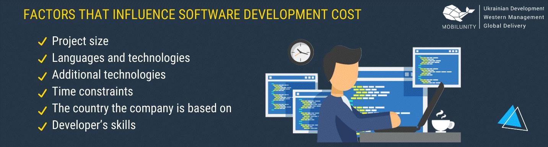 Factors that influence software development cost