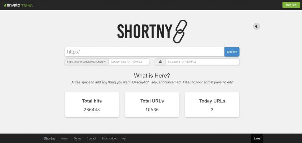 Shortny – the URL Shortener