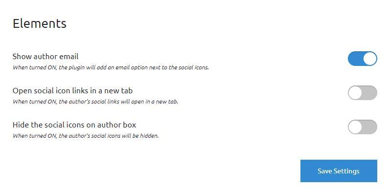 Simple Author Box Elements