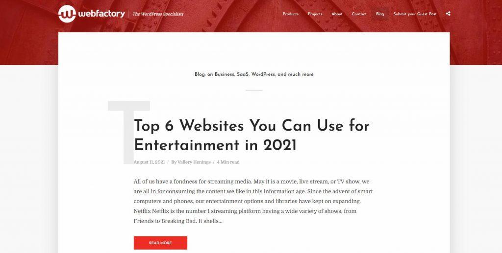 Web Factory blog