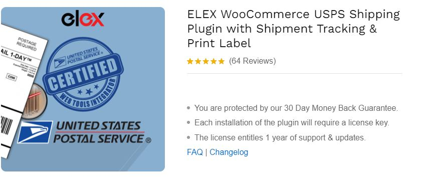 ELEX WooCommerce USPS Shipping Plugin with Shipment Tracking & Print Label
