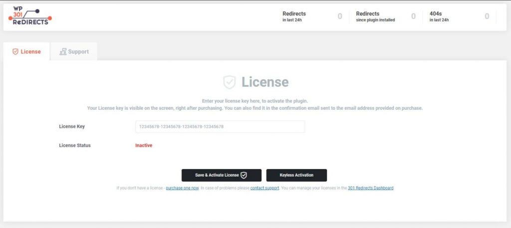 WP 301 Redirects license